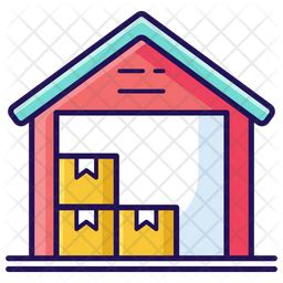 Free Warehouse Icon of Colored Outline style - Available
