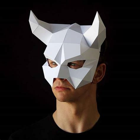 The Low-Poly Paper Masks Ready for Your Halloween Party