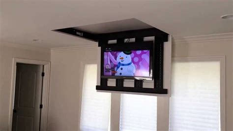 """Motorized fully automated Flip-down ceiling TV lift 46""""-60"""