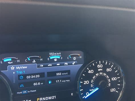 2016 F150 8in LCD Instrument Cluster Fuel Used Problem