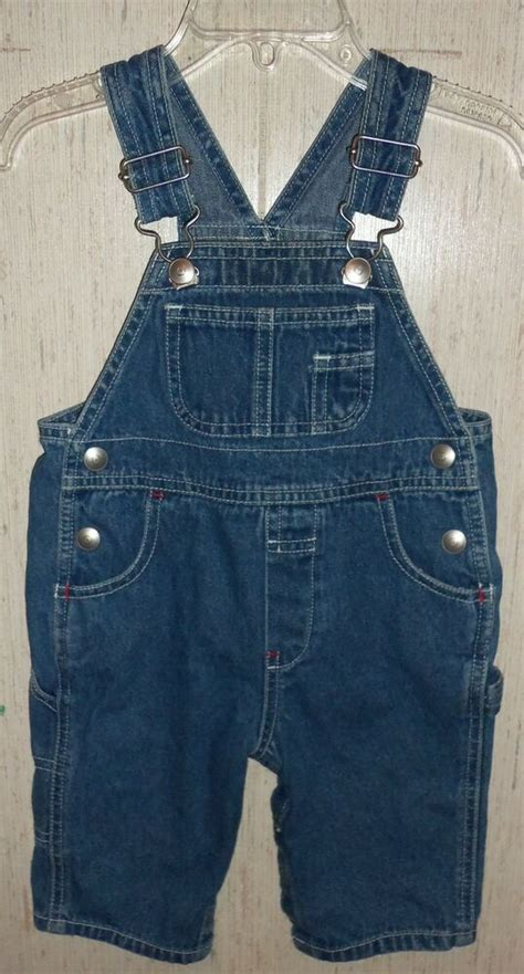 EXCELLENT BABY BOYS baby GAP DISTRESSED BLUE JEAN OVERALLS