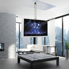 Contemporary TV ceiling mount / remote-controlled